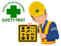 Предосторежение безопасности PPE Стоковые Фото