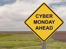 Предосторежение - кибер понедельник вперед стоковое изображение rf