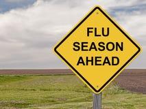 Предосторежение - сезон гриппа вперед Стоковое Изображение RF