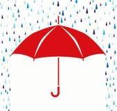 предохранение от зонтика вектора от падений дождя Стоковые Фотографии RF