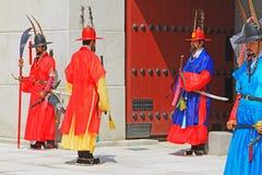 Предохранитель Кореи королевский на дворце Gyeongbokgung Стоковые Изображения RF