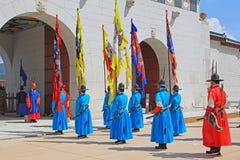Предохранитель Кореи королевский на дворце Gyeongbokgung Стоковое Фото