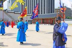 Предохранитель Кореи королевский на Gwanghwamun, дворце Gyeongbokgung Стоковые Фото