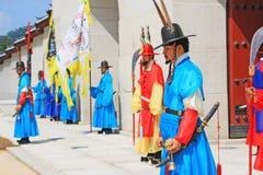 Предохранитель Кореи королевский на Gwanghwamun, дворце Gyeongbokgung Стоковая Фотография