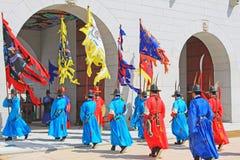 Предохранитель Кореи королевский на Gwanghwamun, дворце Gyeongbokgung Стоковые Фотографии RF