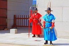 Предохранитель Кореи королевский на Gwanghwamun, дворце Gyeongbokgung Стоковое Фото