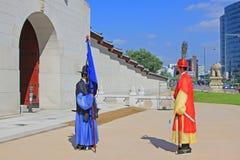 Предохранитель Кореи королевский на Gwanghwamun, дворце Gyeongbokgung Стоковое Изображение RF