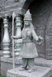 Предохранитель перед виском сделанным железной сетью стоковые изображения