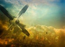 предпосылка авиации Стоковая Фотография
