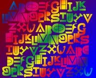 предпосылка алфавита Стоковые Фотографии RF