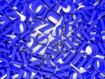 Предпосылка алфавитов Стоковые Фото