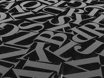 Предпосылка алфавитов Стоковые Изображения