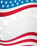 Предпосылка американского флага Стоковое Изображение RF