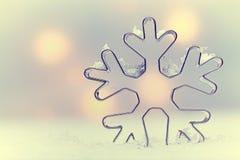Предпосылка бесплотной снежинки сезонная Стоковые Изображения RF
