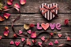 Предпосылка биения сердца влюбленности Стоковая Фотография RF