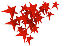 предпосылка изолировала новые красные звезды белые Стоковое Изображение RF