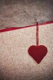 Предпосылка искусства ретро с сердцами ткани для или конструкцией Стоковое фото RF