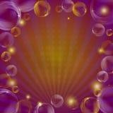 предпосылка испускает лучи пузыри Стоковое Фото