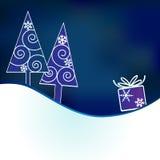 предпосылка кладет рождество в коробку Стоковое Изображение