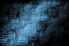 Предпосылка микросхемы - принципиальная схема технологии Стоковые Изображения RF