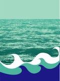 предпосылка морская Стоковые Фото