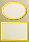 предпосылка обрамляет золото 2 Стоковая Фотография