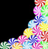 Предпосылка от конфет леденцов на палочке Стоковая Фотография RF