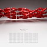 предпосылка пластичных элементов 3d абстрактная Стоковые Изображения