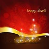 Предпосылка празднества Diwali Стоковая Фотография