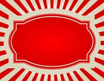 предпосылка разрывала ретро звезду Стоковая Фотография