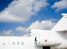 предпосылка самолета Стоковое фото RF