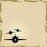 предпосылка самолета Стоковые Фотографии RF