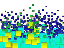 Предпосылка сделанная из серий квадратов Стоковое фото RF