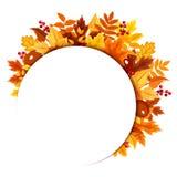 Предпосылка с листьями осени также вектор иллюстрации притяжки corel Стоковое Изображение