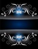 Предпосылка с серебряным орнаментом Стоковые Изображения RF