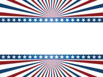 Предпосылка флага США Стоковое фото RF