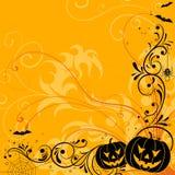 предпосылка флористический halloween Стоковое фото RF