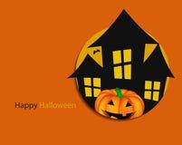 Предпосылка хеллоуина с вектором тыквы Стоковое Изображение RF