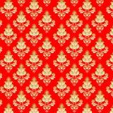 предпосылка цветет красный цвет золота Стоковая Фотография RF
