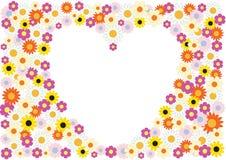 предпосылка цветет сердце Стоковая Фотография RF