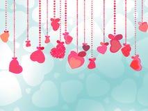 Предпосылка дня Valentines. EPS 8 Стоковое Изображение