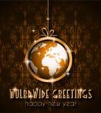 Предпосылка 2015 Новых Годов и счастливого рождеств Стоковые Изображения RF