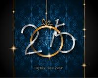 Предпосылка 2015 Новых Годов и счастливого рождеств Стоковое Изображение RF