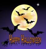предпосылка bats halloween Стоковое Изображение RF