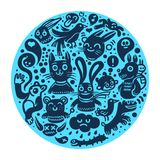 предпосылка doodles радостное Стоковые Фото