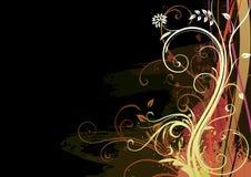 Предпосылка Grunge флористическая Стоковое Фото