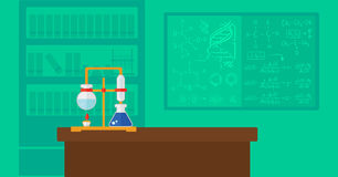 Предпосылка лаборатории химии Стоковые Изображения RF
