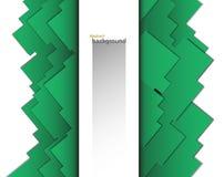 Предпосылка абстрактного вектора геометрическая зеленоголубого цвета в форме квадратов Стоковое Фото
