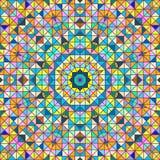 Предпосылка абстрактного вектора геометрическая красочная Стоковое Изображение RF