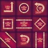 Предпосылка абстрактного вектора ретро светлая Дизайн шаблона иллюстрации искусства для сети и передвижного app, творческих данны Стоковое Изображение RF